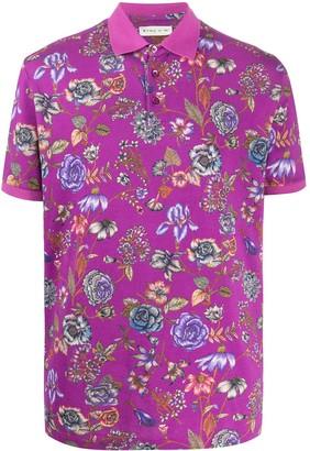 Etro Floral Print Pique polo shirt