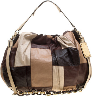 Dolce & Gabbana Multicolor Patchwork Leather Miss Night and Day Hobo