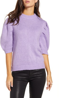 ENGLISH FACTORY Puff Sleeve Sweater