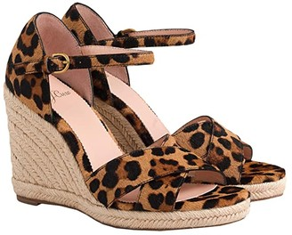J.Crew Haircalf Espadrille Wedge Sandal (Leopard) Women's Shoes