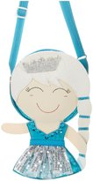 Lily & Momo Belle Princess Bag - Aqua and Silver-3-10Y