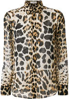 Saint Laurent animal print blouse