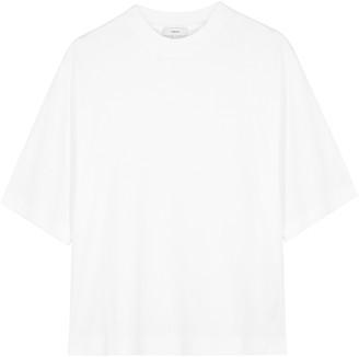 Vince White cropped Pima cotton T-shirt