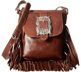 American West Eagle Feather Soft Crossbody Fringe Bag