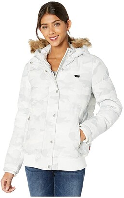 Levi's Arctic Cloth Shortie Parka with Faux Fur Hood