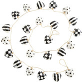 Mackenzie Childs MacKenzie-Childs - Black & White Heart Decorative Garland