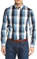 Nordstrom Men's Slim Fit Herringbone Buffalo Check Sport Shirt