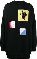 J.W.Anderson oversized crochet embellished sweater