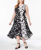 INC International Concepts I.n.c. Plus Size Handkerchief-Hem Midi Dress, Created for Macy's