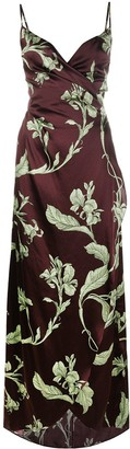 Johanna Ortiz Botanical-Print Midi Dress