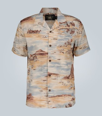 Ralph Lauren RRL Western-print short-sleeved shirt