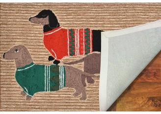 """The Holiday Aisle Hand Woven Brown Rug Rug Size: Rectangle 1'8"""" x 2'6"""""""