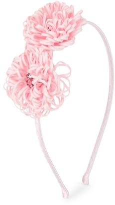 Bari Lynn Double Frilly Flower Headband
