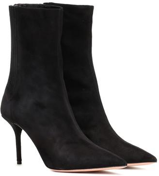 Aquazzura Saint Honore 85 suede ankle boots