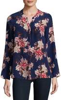 Joie Women's Devitri Floral Long-Sleeve Silk Blouse