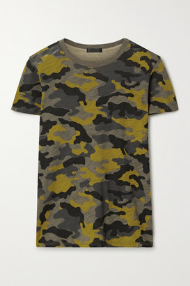 ATM Anthony Thomas Melillo Schoolboy Camouflage-print Slub Cotton-jersey T-shirt - Army green