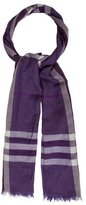 Burberry Virgin Wool & Silk-Blend Nova Check Scarf