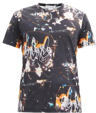 Comme des Garçons Shirt Futura-print Cotton-jersey T-shirt - Black Multi