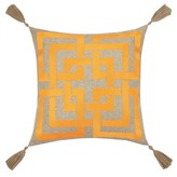 Trina Turk 20x20 Shanghai Links Embroidered Pillow - Orange
