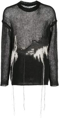 Isabel Benenato relaxed-fit knitted jumper