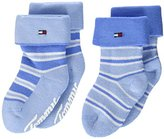 Tommy Hilfiger Baby Boys' TH Stripe Full Terry 2P Calf Socks,6-8.5 pack of 2