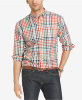 Izod Men's Easy Care Plaid Long Sleeve Shirt