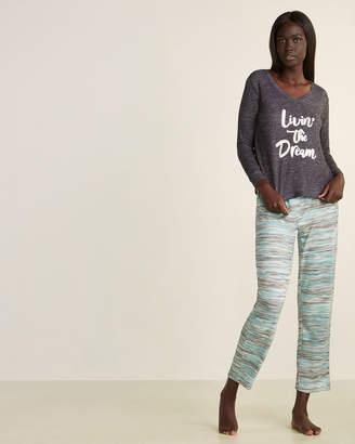 Pillow Talk Two-Piece Long Sleeve Hacci Top & Pants Pajama Set