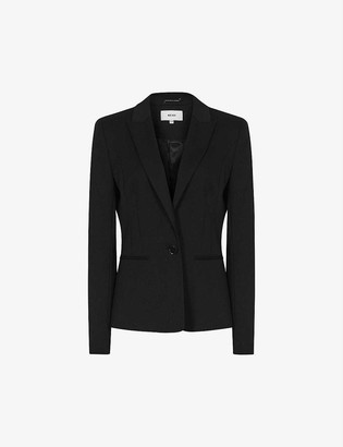 Reiss Hayes cropped wool-blend blazer