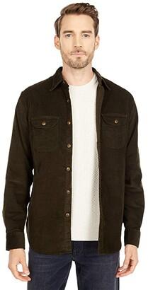 J.Crew Stretch Corduroy Overshirt (Green Stretch Corduroy) Men's Clothing