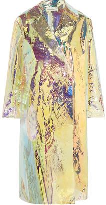 Mansur Gavriel Holographic Crinkled-vinyl Coat