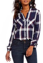 Westbound Rouched Back Button Front Shirt