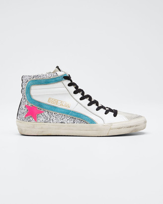 Golden Goose Slide Zip High-Top Sneakers