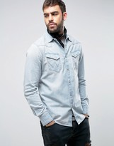 Wrangler Western Slim Fit Denim Shirt
