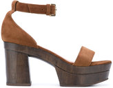 L'Autre Chose clogs with ankle strap - women - Leather/Calf Suede/rubber - 37