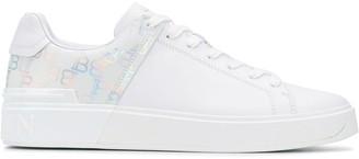 Balmain Monogram Print Low-Top Sneakers