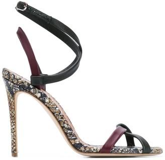 Victoria Beckham snake skin sandals