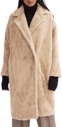 Noize Estelle Soft Plush Faux-Fur Long Coat