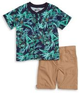 Nannette Baby Boy Henley Tee and Shorts Set