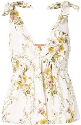 Brock Collection Floral Print Flared Blouse