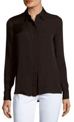 Vince Solid Long-Sleeve Shirt