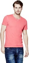 GUESS Short-Sleeve Stream-Jersey V-Neck Tee