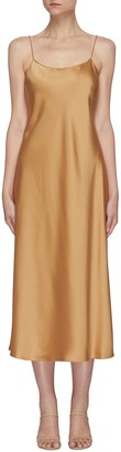 Theory 'Telson C' satin midi slip dress