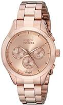Invicta Women's Angel Quartz Watch with Rose Gold Dial Chronograph Display and Rose Gold Stainless Steel Bracelet 12467