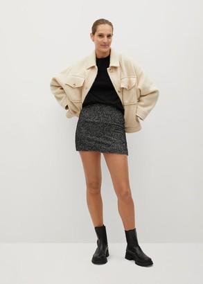 MANGO Textured miniskirt