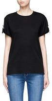 Helmut Lang Back strap cotton-cashmere T-shirt