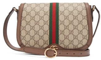 Gucci Ophidia Gg Supreme Canvas Shoulder Bag - Grey Multi