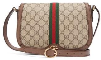 Gucci Ophidia Gg Supreme Canvas Shoulder Bag - Womens - Grey Multi