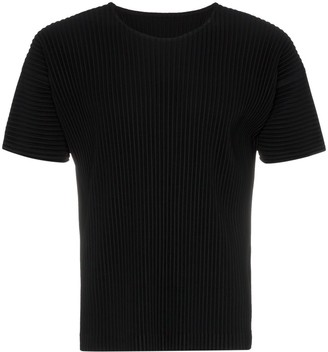 Homme Plissé Issey Miyake pleated short sleeved T-shirt