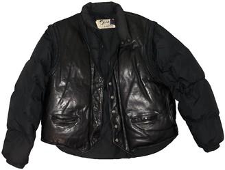 Schott Black Leather Leather Jacket for Women