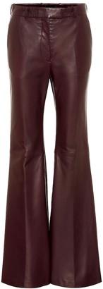 Joseph Valmy bootcut leather pants